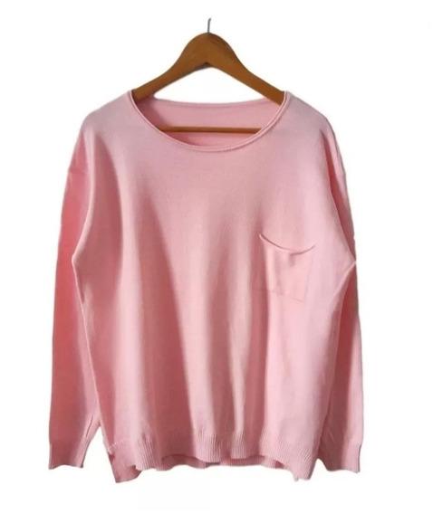 Sweater Hilo Y Lycra - Pullover Grande Talle Especial