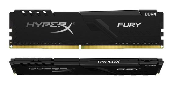 Memória Ram Hyper X Fury 16gb Ddr 4 2400 Com Nf 2 X 8gb Dual