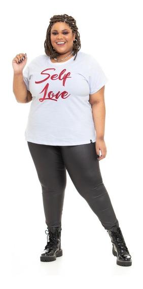 T-shirt Plus Size Estampa Self Love Wonder By Ju Romano