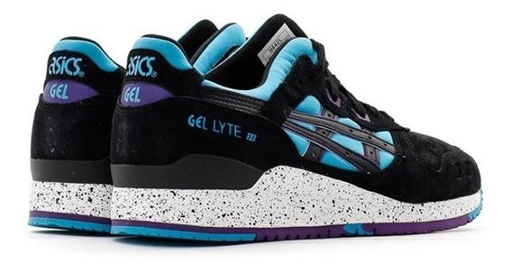 Tenis Asics Hombre Azul Negro Gel Lyte Iii H642l4390