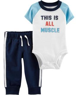 Carters Conjunto 2 Piezas Body Pantalon Bebe Varon 6 Meses