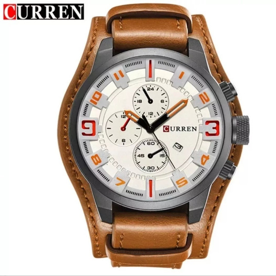 Relógio Masculino Curren 8225 Promoção Couro Bracelete