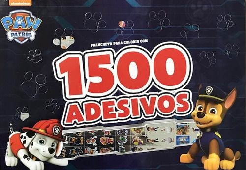 Imagem 1 de 1 de 1500 Adesivos Prancheta Para Colorir - Patrulha Canina