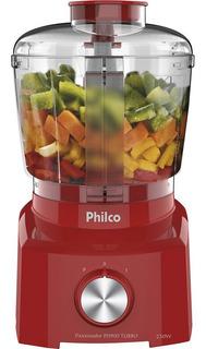 Processador Philco Compacto De Alimentos Turbo Vermelho 220v - Ph900