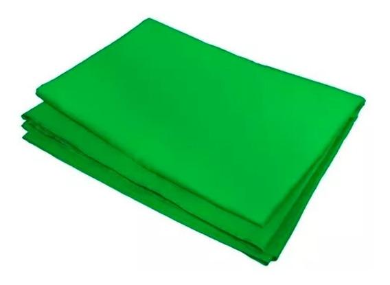 Tecido Fundo Infinito Verde 100% Algodão Chromakey 3x5