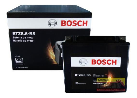 Bateria Moto Bosch Btz8.6-bs Hornet Cb600f Mt-09 Yzxr1 Cb500