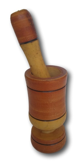 Pilão - Amassador De Tempero Artesanal Madeira Ref: 9508