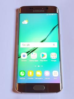 Samsung Galaxy S6 Edge G925i 32gb Dourado Seminovo ( Perfeito Estado) + Carregador Original + Fone Bluetooth Qkz + Caixa