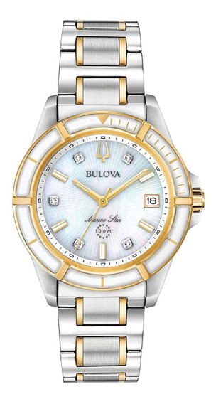 Relógio Feminino Bulova Marine Star Aço 98p186