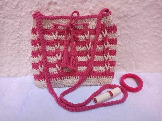 Bolsa De Crochê Modelo Trança