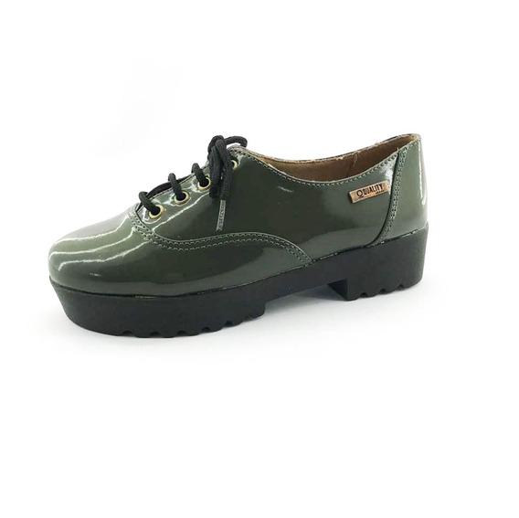 Tênis Tratorado Quality Shoes Feminino 005 Verniz Verde Musg
