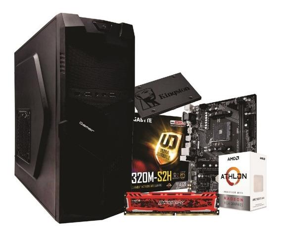 Pc Bg3521 Athlon 200ge A320m S2h 4gb Bls Ssd Kg120gb 350w