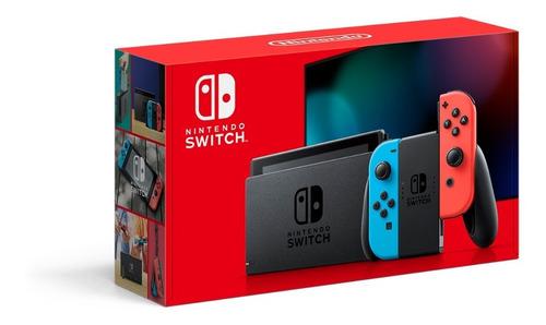 Imagen 1 de 9 de Consola Nintendo Switch 32gb Versión 1.1 Neón