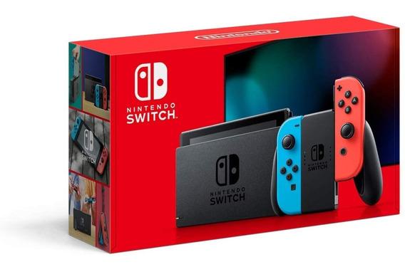 Nintendo Switch 32gb Novo Modelo Neon Lacrado De Fábrica