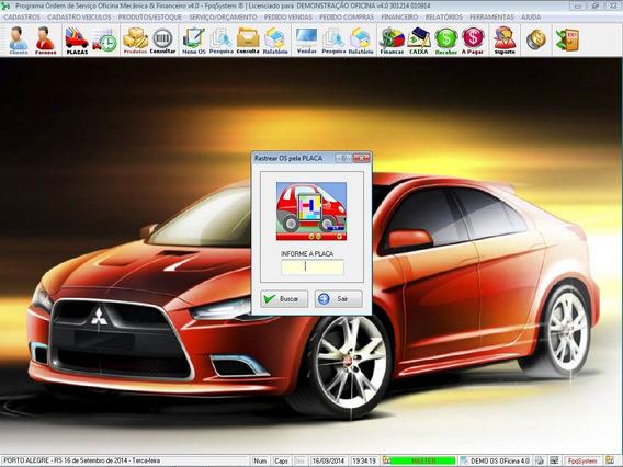 Software Ordem De Serviço Oficina Mecânica E Financeiro V4.0
