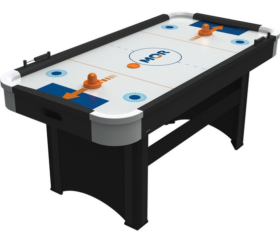 Mesa De Pebolim Preto Jogo Air Hockey Power Play Mor