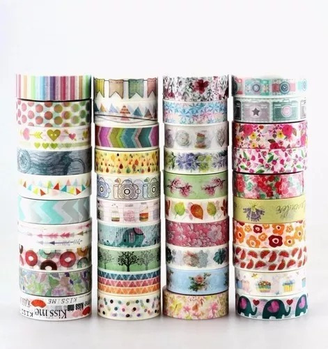 Washi Tape Fita Colorida C/10 Metros Planner Kit C/10 Fitas