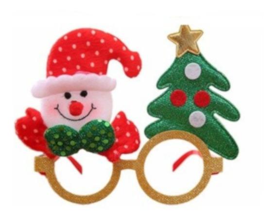 Lentes Navideños Muñeco Nieve Posada Fiesta Arbol Navidad