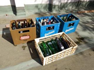 Lote 3 Cajones De Cervezas, Cajon Playo, 45 Botellas Vacias