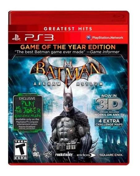 Batman Arkham Asylum Goty Ps3 Mídia Física Novo Lacrado Rj