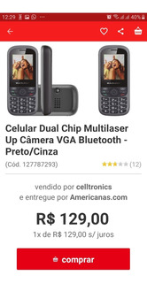 Lote 6 Aparelho Simples Multilaser Up 2 Chips