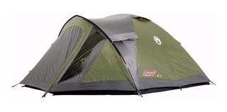 Carpa Coleman Darwin 4 Plus Para 4 Personas Con Abside Columna 3000 Mm Camping Ml Full