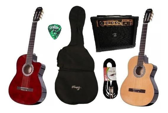 Guitarra Criolla Electroacustica Parquer Corte Ampli 10w