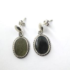 Brinco Obsidiana Ouro - Id 3311