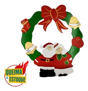 3 Guirlanda Natal Decorada Enfeite Decorativa Pintada Mdf Qm