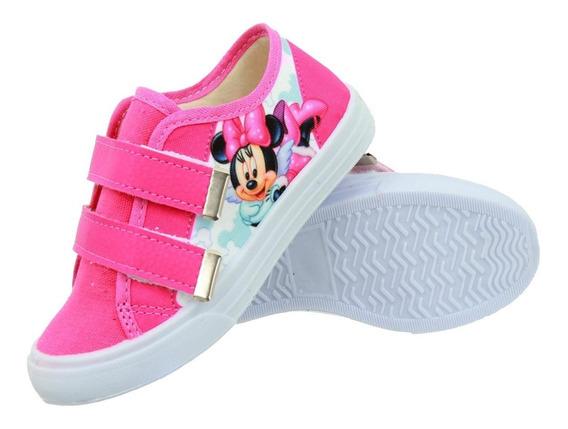Tênis Infantil Velcro Minnie Pink Promoção 2020
