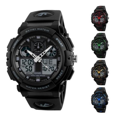 Imagen 1 de 10 de Reloj Skmei 1270 S Shock - Sumergible - Deportivo - Dual