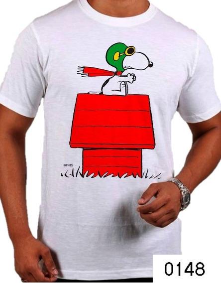 Playera Snoopy Aviador Casita Peanuts Camiseta Casual 0148