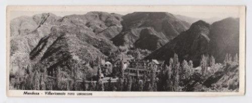 Postal Antigua Mendoza Panorámica De Villavicencio