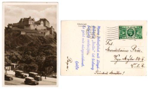 Inglaterra 1935 Postal Palacio De Edinburgo