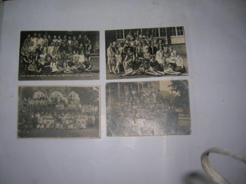 Antigua Foto Tarjeta Postal Aniversario Colegio Mujeres 1926
