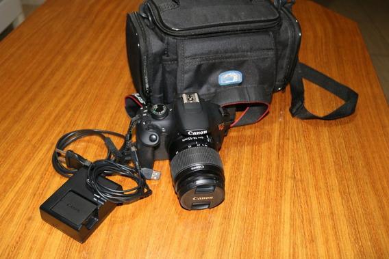 Câmera Canon T5 Com Lente, Bolsa, Cartão De Memória De 32 Gb