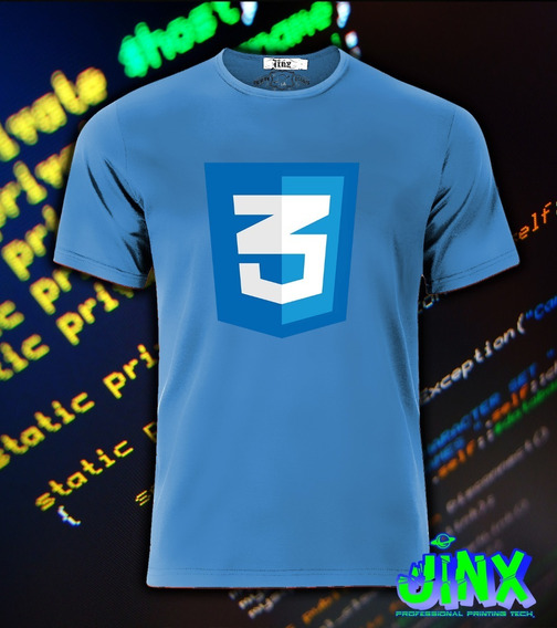 Playera O Camiseta Para Programadores Html Java Phyton Cualquier Logo
