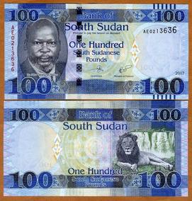 Sudão Do Sul 100 Libras 2017 P. New Fe Cédula - Tchequito