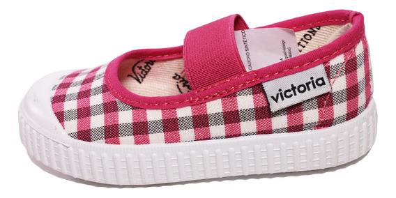 Zapato Niña Bailarina Meter Comodo Elástico Vichy Victoria