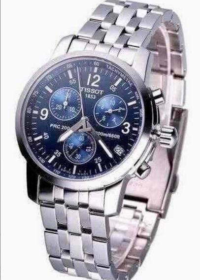 Relógio Tissot Prc 200 Azul Marinho Máquina Eta Suíça 12x