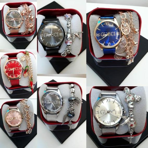 Relógios Femininos Em Atacado 3 Unids Com Pulseira E Caixa
