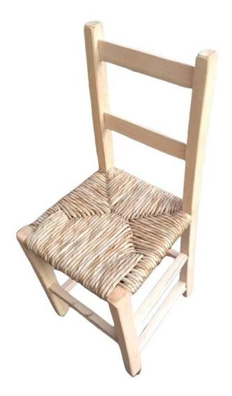 Cadeira Cozinha Palha E Madeira Eucalipto Para Mesa De Jantar Ideal Para Decoraçao Bar Restaurante Kit Com 4 Peças