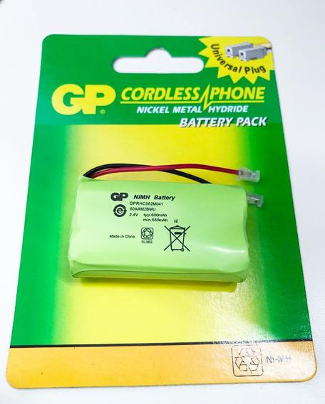 Bateria Telefone Gp Ni-mh Aa 2,4v 550/600mah Plug Universal