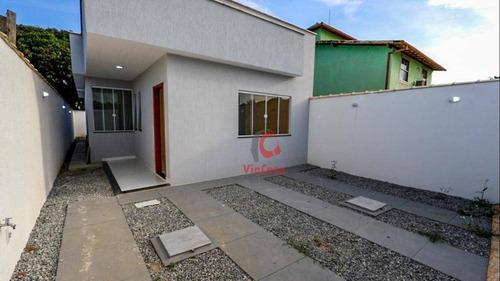 Casa Linear Com 3 Quartos Sendo 1 Suíte À Venda, 87 M² Por R$ 315.000 - Chácara Mariléa - Rio Das Ostras/rj - Ca1749