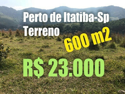 T01 Terreno De 600m² Prox A Atibaia Excelente Local P/ Pesca