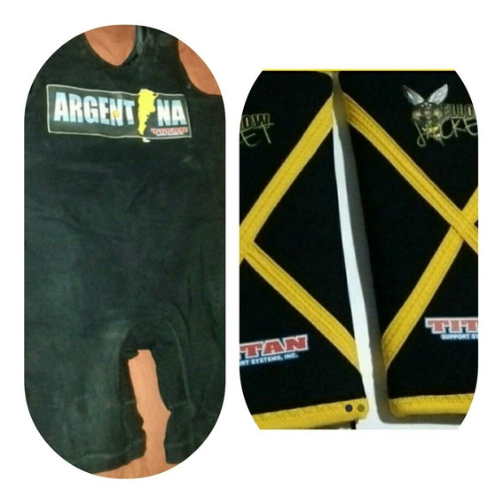 Malla Titan Powerlifting + Rodilleras Yellow Jacket Titan