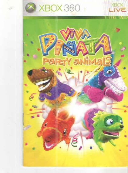 Manual De Instrucoes Jogo Viva Pinata-party Animals/xbox 360