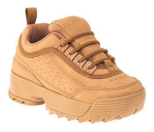 Tenis Casual Niño Urban Shoes Mostaza 825942 Cab 19 J