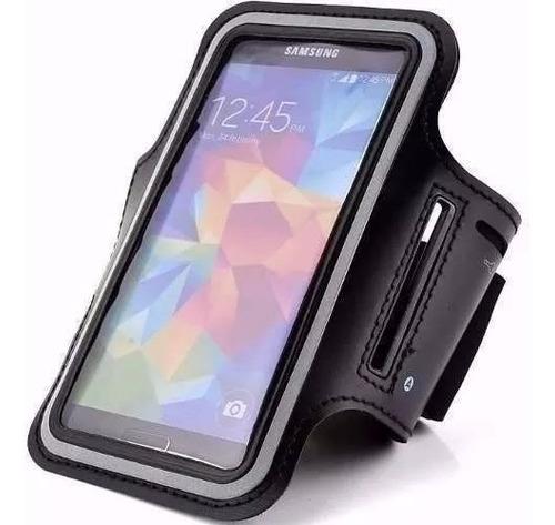 Imagem 1 de 3 de Armband Preta Galaxy S7 Edge Braçadeira Suporte Braço