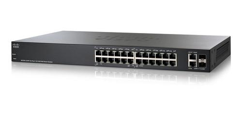 Switch Cisco Sf200-24p 24 Puertos 10/100, 2 Gigabit. Poe